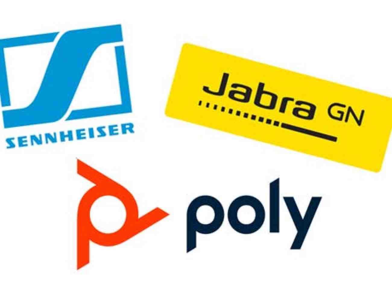 Poly, Plantronics, Jabra and Sennheiser headsets
