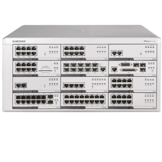 Samsung Officeserv 7400 with Voicemail, 12 x VOiP, 50 x Digital Ports, and Analogue Ports. Prices from: